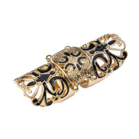 Cut Out Flower Double Ring