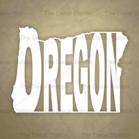 Oregon Vinyl Decal Sticker for Car Truck Auto. Word Art . US State Pride.
