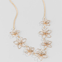 Bethany Floral Statement Necklace