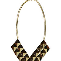 Jayne Triangle Stud Necklace