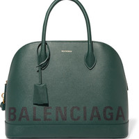 Balenciaga - Ville printed textured-leather tote