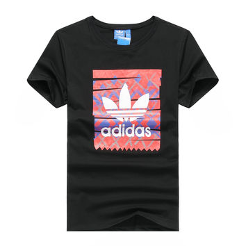 """""""Adidas"""" Men Fashion Casual Clover Letter Pattern Print Round Neck Short Sleeve T-shirt Tops"""