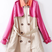 Multi Color Trench Coat