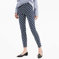 Martie slim crop pant in elephant two-way stretch cotton