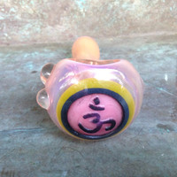 Ohm pipe-Stunning sand-carved color changing pipe