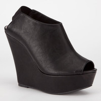 Madden Girl Wallup Womens Wedges Black  In Sizes