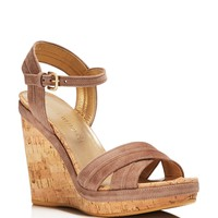 Stuart WeitzmanMinky Wedge Sandals