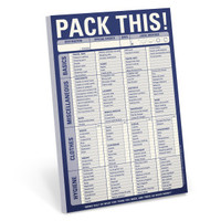Pack This! Pad – Packing Checklist Notepad by Knock Knock