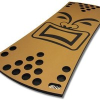 Tiki Floating Beer Pong Table 6 Cup Tan/Black