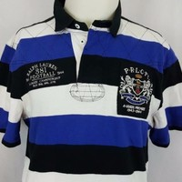 Polo Ralph Lauren Football Club League Championship Patch Rugby Shirt Size Large