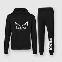 Fendi Fashion Casual Top Sweater Pullover Hoodie Pants Trousers Set Two-Piece
