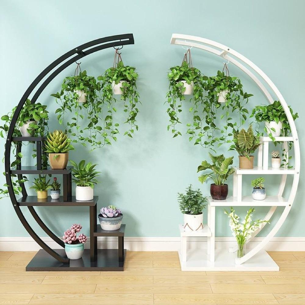 Image of Half Moon Flower Pot Stand For Home Decoration