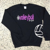 #volleyball Crew Neck Sweatshirt