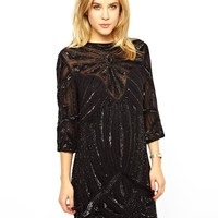 ASOS Sunray Embellished T-shirt Dress