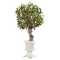 Artificial Tree -3 Foot Olive Tree with White Urn
