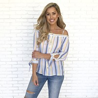 Brighter Days Stripe Blouse