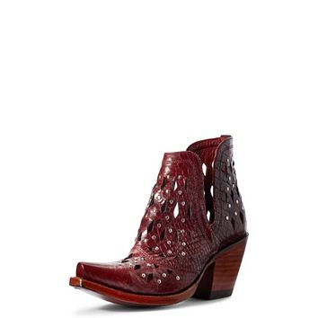 Ariat Dixon Studded Western Boot~ Red Snake - Style 10031504