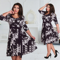 New 2016 autumn  women fasshion feminine  dress  Casual slim dresses Plus Size 4XL clothes 5xl 6xl
