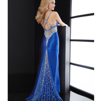 Jasz Couture 2013 Prom - Royal Blue Embellished Sexy Back Gown - Unique Vintage - Cocktail, Pinup, Holiday & Prom Dresses.