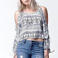 LA Hearts Printed Cold Shoulder Top at PacSun.com