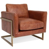 London Leather Lounge Chair Cognac