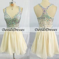 Backless Short Prom Dresses 2016 With Beading