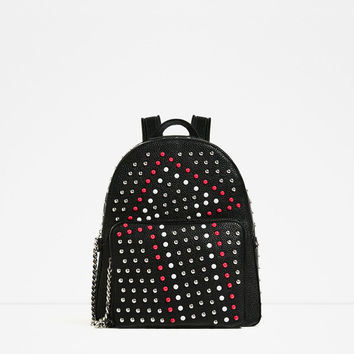 BACKPACK WITH STUDSDETAILS
