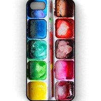 Watercolors iPhone Case, Watercolor Palette iPhone Case, Paints iPhone Case iPhone 5C Case (5C Black)
