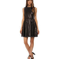 RED VALENTINO Leather with Grommets and Sphere Dress Nero - Zappos.com Free Shipping BOTH Ways