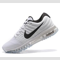 Fashion Online Nike Trending Fashion Casual Sports Shoes Airmax Section White Black Hook