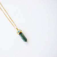 Aventurine pendant and chain