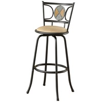 Set of 2 - Adjustable Height Contemporary Swivel Barstool