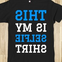 THIS IS MY SELFIE SHIRT Mirrored T-SHIRT (BLUE WHT ICL22)-T-Shirt