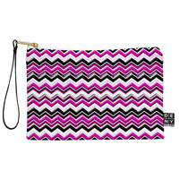 Madart Inc. Pink Black White Chevron Pouch
