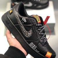 "Nike Air Force 1 Low ""Just Do It"" Men's and women's cheap nike shoes"