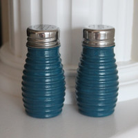 Nautical Salt and Pepper Shakers, Blue Salt and Pepper Shakers, Table Setting, Nautical Kitchen,