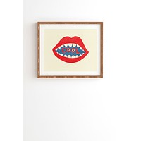 Nick Nelson COOL MOUTH Framed Wall Art