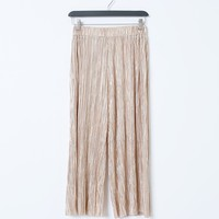 Rock Your Day Metallic Culottes - Gold