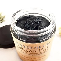 Organic Activated Charcoal Toothpaste / Whitening Toothpaste / Organic Toothpaste / Black Toothpaste / Charcoal Toothpaste / Tooth Paste