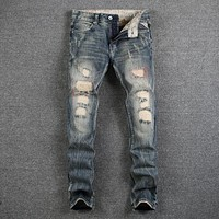 Destroyed Ripped Jeans For Men