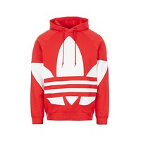 Adidas Men's Originals Big Trefoil Hoodie Red