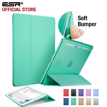 PU Leather Translucent Back Cover Hybrid Soft Corner Ultra Slim Color Smart Cover for iPad mini 4