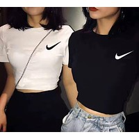 NIKE Hot Sale Women Fashion Print Short Sleeve T-Shirt Blouse Top