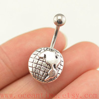 The American Continent Belly Button Rings,Navel jewelry,lucky belly button jewelry,friendship belly rings,summer jewelry