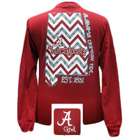New Alabama Crimson Tide Chevron State Bright Long Sleeve T Shirt