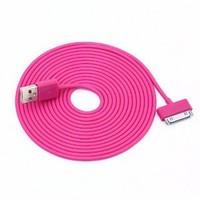 ELONGPRO USB 2.0 Retractable Data Cable iPhone 3Gs 4 4S iPod Nano Touch Black A11