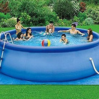 16x42 Above-Ground Easy Setup Outdoor Swimming Pool Set w Ladder & Filter