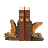 Sterling Industries 91-4653 Pair Rainbow Trout Bookends