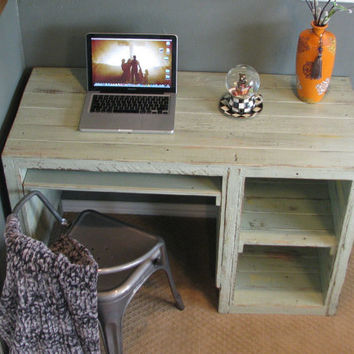 Rustic Handmade Desk with Storage Cubbies