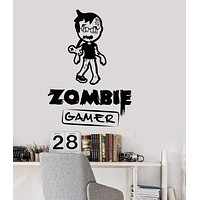 Vinyl Wall Decal Zombie Gamer Video Games Play Room Boy Teen Stickers Unique Gift (ig3051)